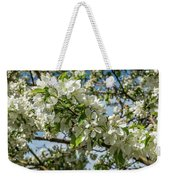 White Blossoms Weekender Tote Bag
