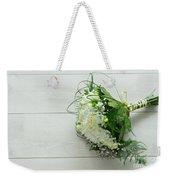 White Wedding Bouquet  Weekender Tote Bag