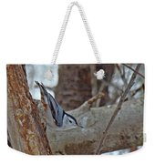 White Breasted Nuthatch - Sitta Carolinensis Weekender Tote Bag
