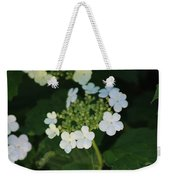 White Bridal Wreath Flowers Weekender Tote Bag