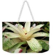 White Bromeliad Weekender Tote Bag