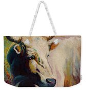 White Bull Portrait Weekender Tote Bag