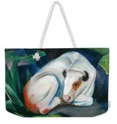 White Bull Resting In The Woods By Franz Marc Weekender Tote Bag