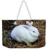 White Bunny Weekender Tote Bag