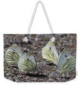 White Butterflies Weekender Tote Bag