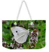 White Butterfly At The Good Earth Market Weekender Tote Bag