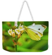 White Butterfly Weekender Tote Bag