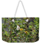 White Butterfly On Golden Daisy Weekender Tote Bag