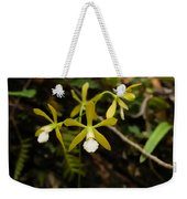 White Butterfly Orchid Weekender Tote Bag