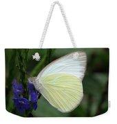 White Butterfly Weekender Tote Bag