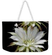 White Cactus Flowers Weekender Tote Bag