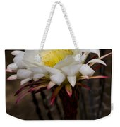 White Cactus Fower Weekender Tote Bag