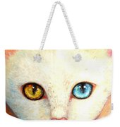 White Cat Weekender Tote Bag