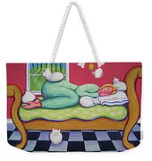 White Cats - Cat Napping Weekender Tote Bag
