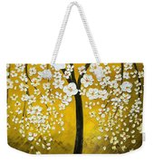 White Cherry Blossom Tree Weekender Tote Bag