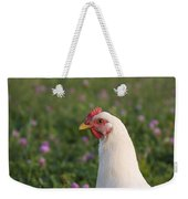 White Chicken Weekender Tote Bag