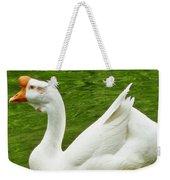 White Chinese Goose Weekender Tote Bag