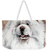 White Chow Chow Weekender Tote Bag