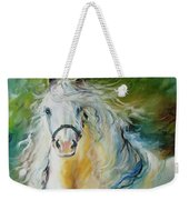 White Cloud The Andalusian Stallion Weekender Tote Bag