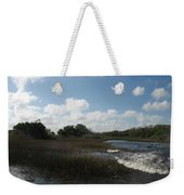White Cloudes Over Water Weekender Tote Bag