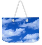 White Clouds Weekender Tote Bag