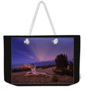 White Clouds Triptych Weekender Tote Bag