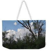 White Clouds With Trees Weekender Tote Bag