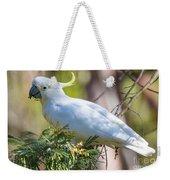 White Cockatoo Weekender Tote Bag