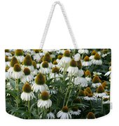 White Coneflower Field Weekender Tote Bag