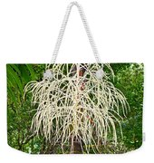 White Confetti Palm Weekender Tote Bag