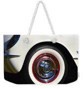 White Corvette Front Fender Weekender Tote Bag