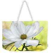 White Cosmos Floral Weekender Tote Bag