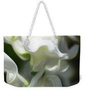White Creamy Peaceful Weekender Tote Bag