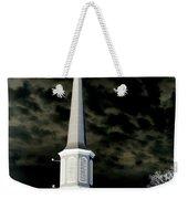 White Cross Dark Skies Weekender Tote Bag