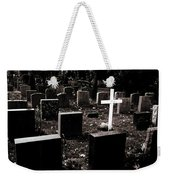 White Cross Weekender Tote Bag