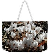 White Cyclamen Weekender Tote Bag