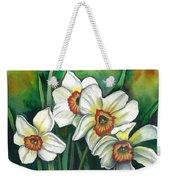 White Daffodils Weekender Tote Bag