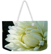 White Dahlia Flower Art Print Canvas Floral Dahlias Baslee Troutman Weekender Tote Bag