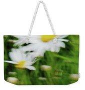 White Daisy Digital Oil Painting Weekender Tote Bag