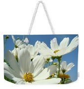 White Daisy Flowers Fine Art Photography Daisies Baslee Troutman Weekender Tote Bag