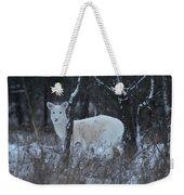 White Deer In Winter Weekender Tote Bag