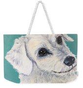 White Dog Weekender Tote Bag
