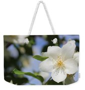 White Dogwood Weekender Tote Bag