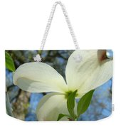 White Dogwood Flower Art Prints Blue Sky Baslee Troutman Weekender Tote Bag