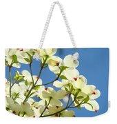White Dogwood Flowers 1 Blue Sky Landscape Artwork Dogwood Tree Art Prints Canvas Framed Weekender Tote Bag