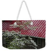 White Dogwood In The Rain Weekender Tote Bag