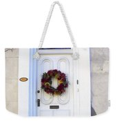 White Door In Charleston Sc Weekender Tote Bag by Susanne Van Hulst
