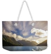 White Dragon Cloud In The Sky At Lake Manapouri Weekender Tote Bag