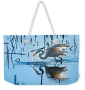 White Egret At Horicon Marsh Wisconsin Weekender Tote Bag