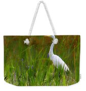 White Egret In Waiting Weekender Tote Bag